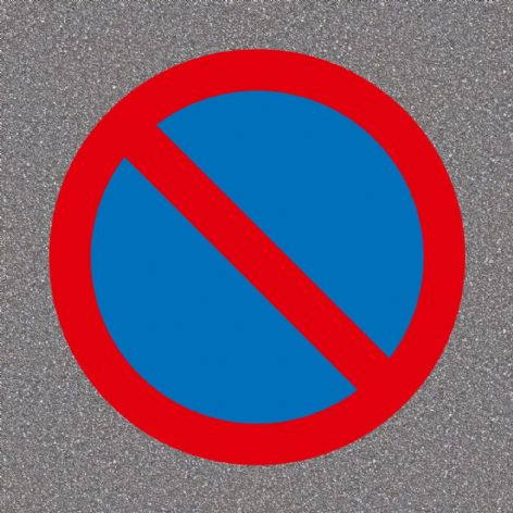 No Waiting Road Sign